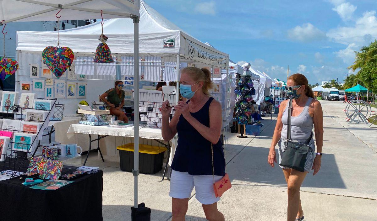 La turística zona de Key West, en Florida.