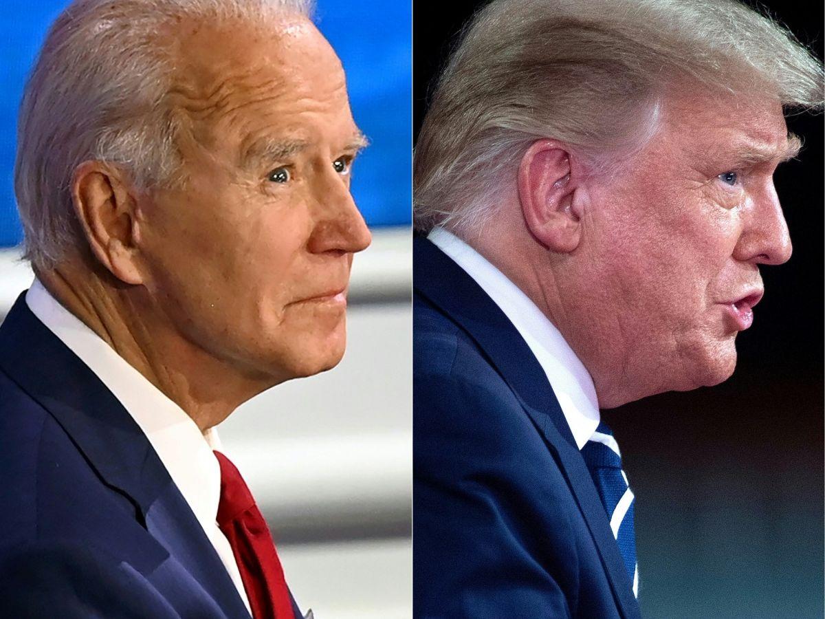 El presidente Joe Biden y el expresidente Donald Trump.