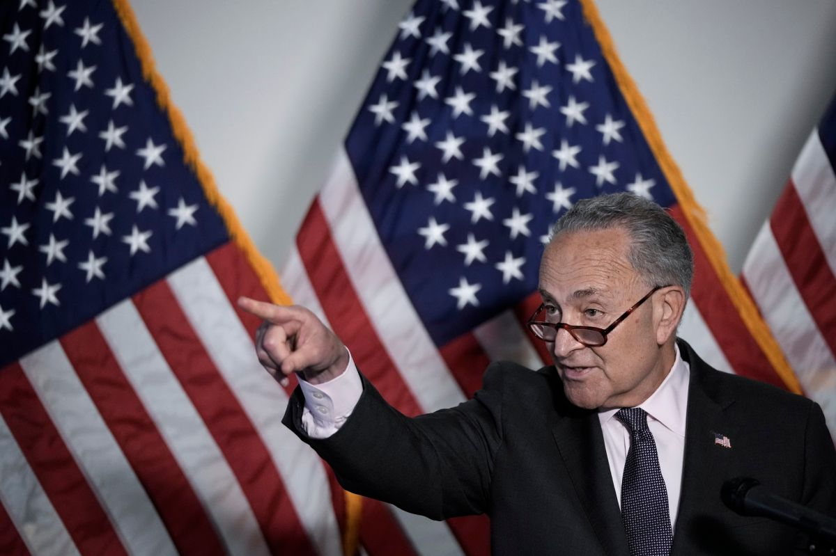 El líder de la mayoría en el Senado, Chuck Schumer.