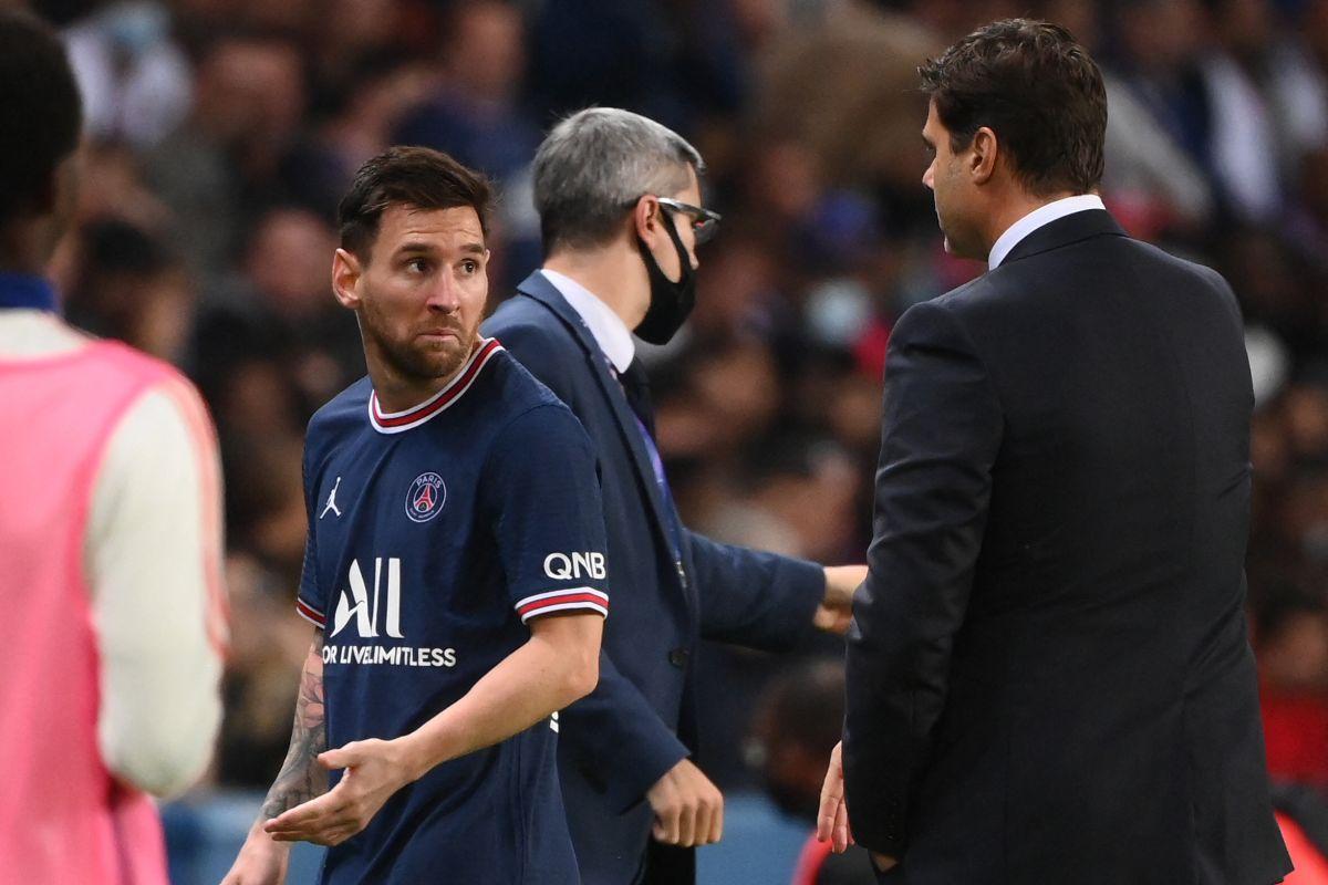 Mauricio Pochettino cambió a Lionel Messi por Achraf Hakimi.