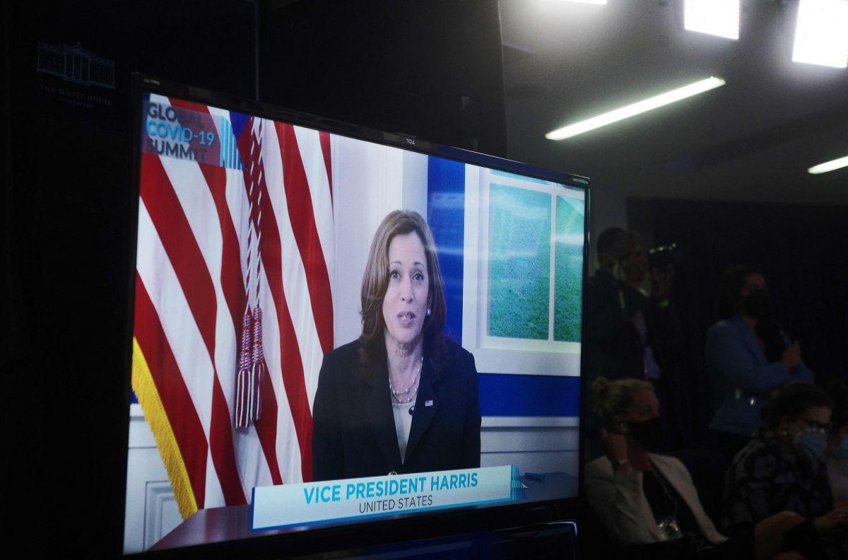 La vicepresidenta Kamala Harris participó en el encuentro virtual sobre COVID-19.