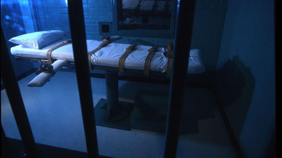 La cámara de muerte en Huntsville, Texas.