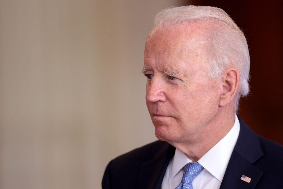 El presidente de EE.UU., Joe Biden, en una conferencia desde la Casa Blanca este miércoles.