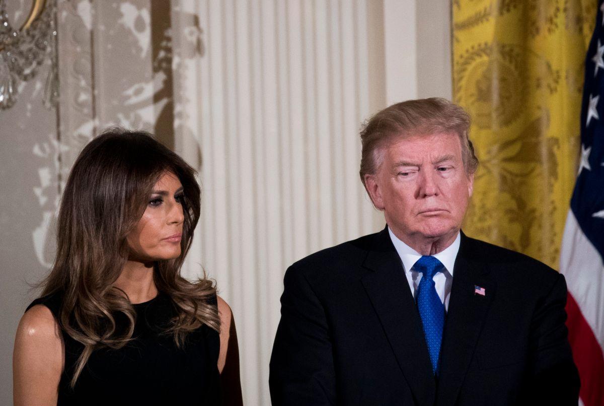 La exprimera dama Melania Trump y el expresidente Donald Trump.