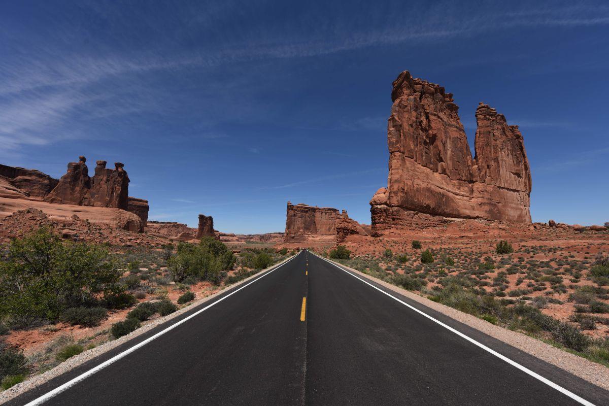 La pareja se encontraba por Moab, Utah, cuando fue intervenida por oficiales de la policía.