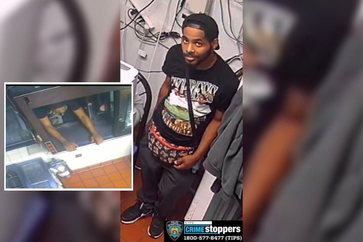 Ladrón captado por cámaras de seguridad.