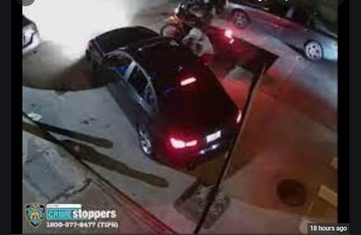 Imagen del robo violento en el Alto Manhattan.