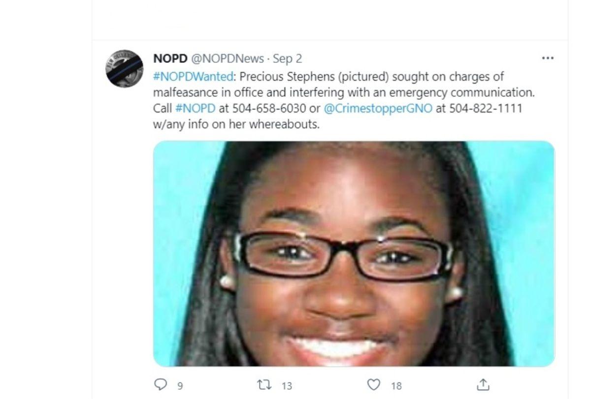 Anuncio del Departamento de Policía de Nueva Orleans.