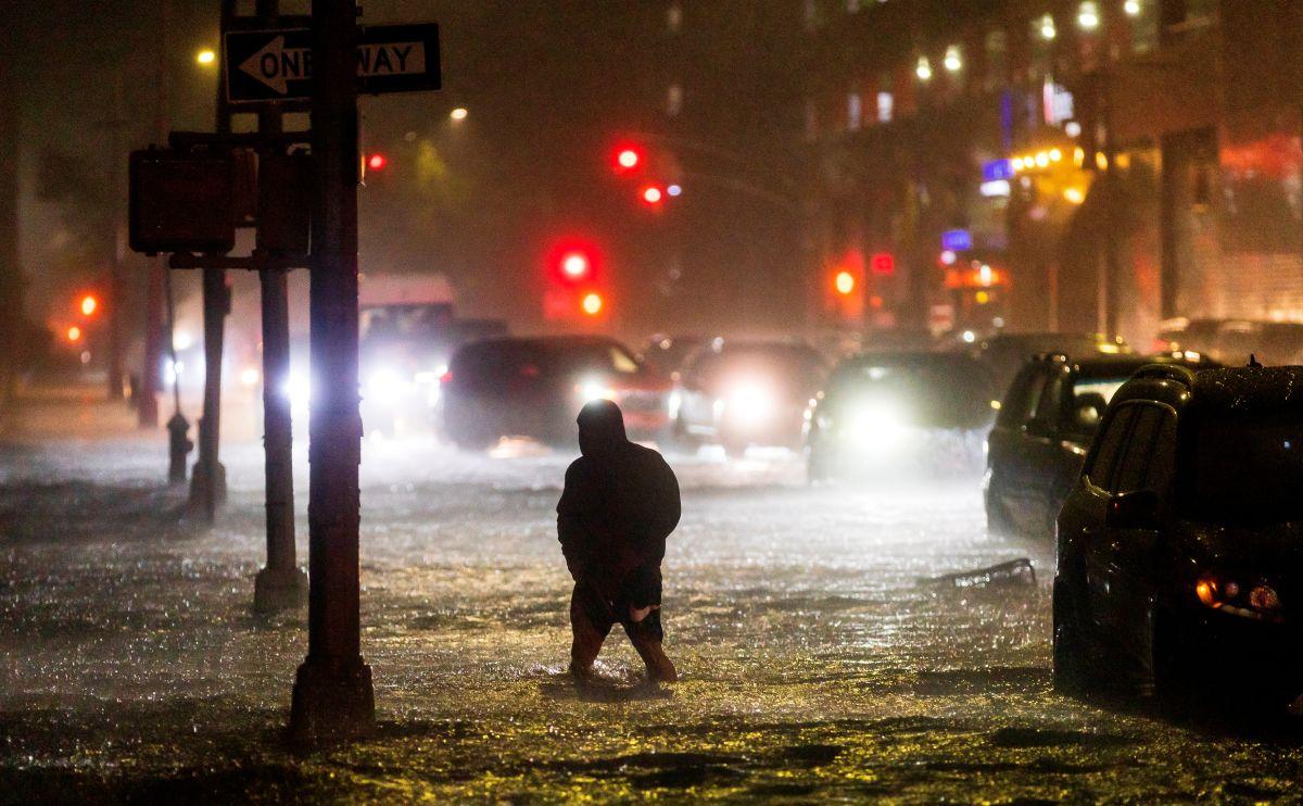 Estragos de las lluvias anoche en NYC.