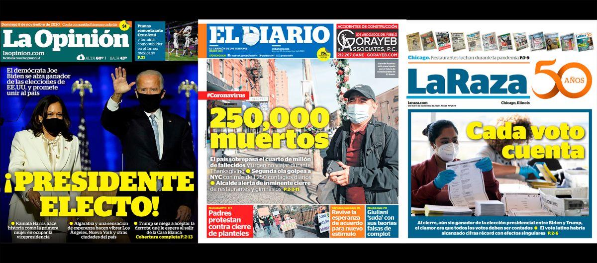 La Opinión, El Diario y La Raza destacaron en las categorías principales de los Premios José Martí de la NAHP.